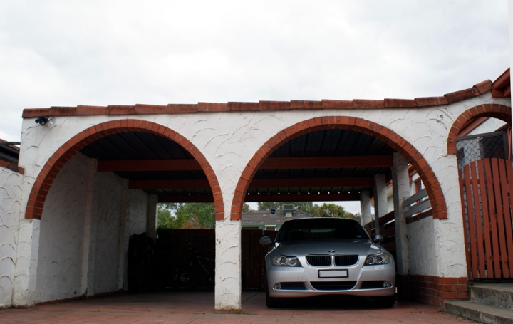 BMW in Driveway